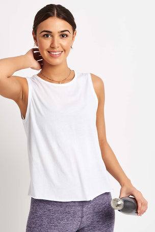 Beyond Yoga All About It Cropped Tank - White image 2 - The Sports Edit