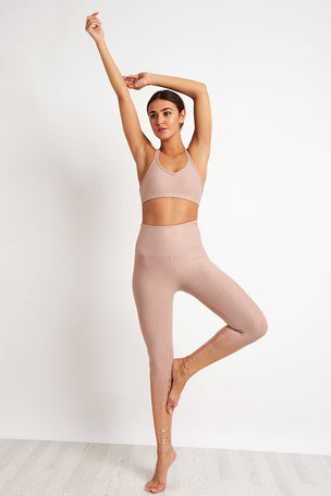 Beyond Yoga Alloy Ombre High Waisted Midi Legging - Rose Gold image 4 - The Sports Edit