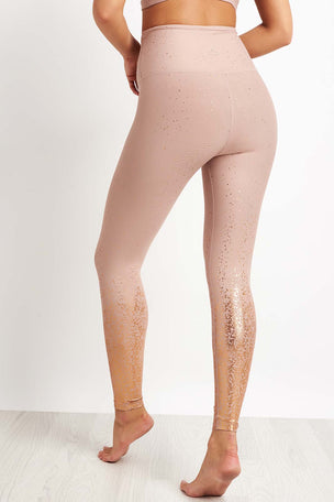 Beyond Yoga Alloy Ombre High Waisted Midi Legging - Rose Gold image 2 - The Sports Edit