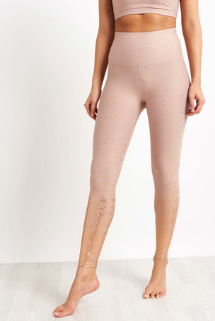 Beyond Yoga Alloy Ombre High Waisted Midi Legging - Rose Gold image 5 - The Sports Edit