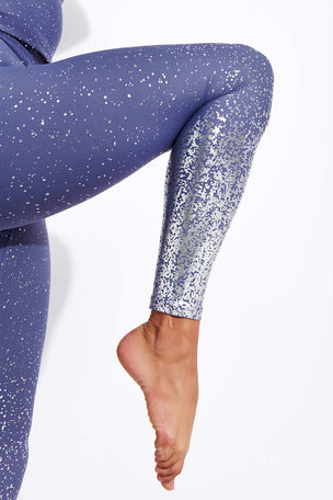 Beyond Yoga Alloy Ombre High Waisted Midi Legging - Dusty Violet Silver Speckle image 4 - The Sports Edit