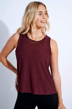 Beyond Yoga Featherweight Balanced Muscle Tank - Deep Merlot image 1 - The Sports Edit