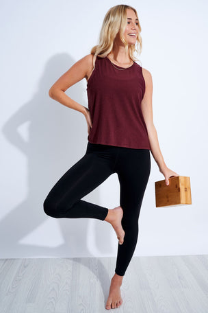 Beyond Yoga Featherweight Balanced Muscle Tank - Deep Merlot image 2 - The Sports Edit