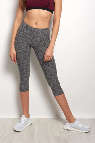 Beyond Yoga Spacedye Capri Leggings - Black/White image 1 - The Sports Edit