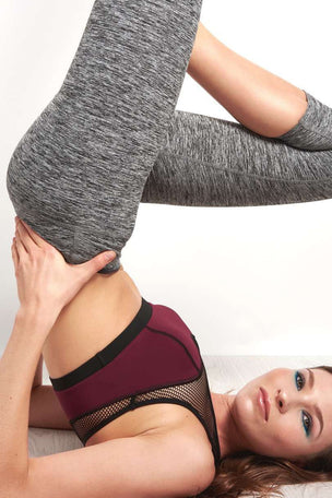 Beyond Yoga Spacedye Capri Leggings - Black/White image 3 - The Sports Edit