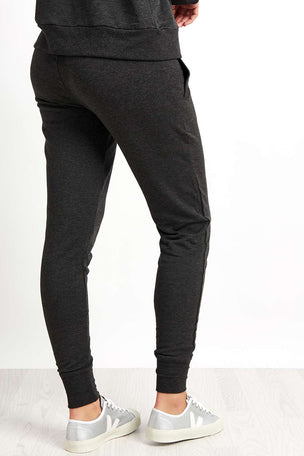 Beyond Yoga Cosy Fleece Foldover Long Sweatpant - Charcoal Heather image 2 - The Sports Edit