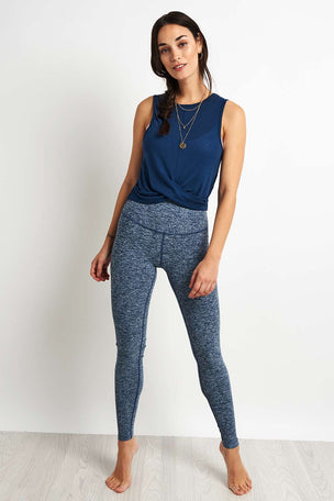 Beyond Yoga Crossroads Reversible Cropped Tank - Outlaw Navy image 3 - The Sports Edit