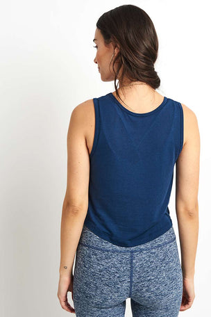 Beyond Yoga Crossroads Reversible Cropped Tank - Outlaw Navy image 2 - The Sports Edit
