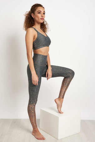 Beyond Yoga Alloy Speckled Double Back Bra image 4 - The Sports Edit
