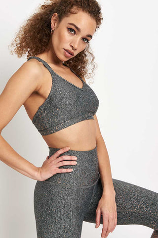 Beyond Yoga Alloy Speckled Double Back Bra image 1 - The Sports Edit
