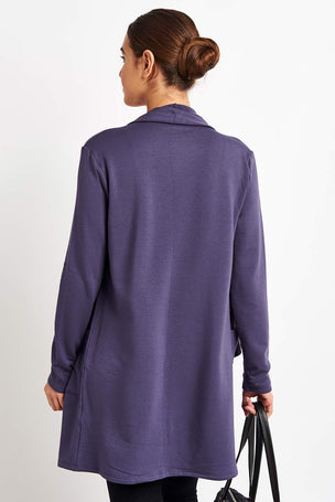 Beyond Yoga Everyday Drape Cardigan - Deep Amethyst image 2 - The Sports Edit