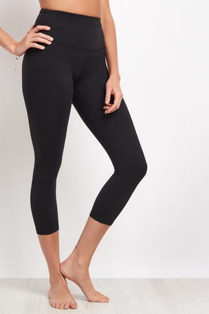 Beyond Yoga High Waisted Capri Legging - Jet Black image 1 - The Sports Edit
