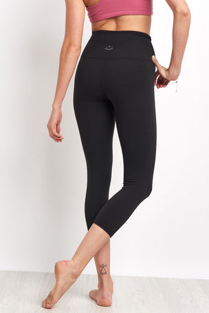 Beyond Yoga High Waisted Capri Legging - Jet Black image 2 - The Sports Edit