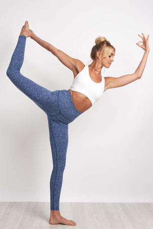 Beyond Yoga Spacedye High Waisted Legging - White/Valor Navy image 4 - The Sports Edit