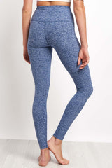 Beyond Yoga Spacedye High Waisted Legging - White/Valor Navy image 2 - The Sports Edit