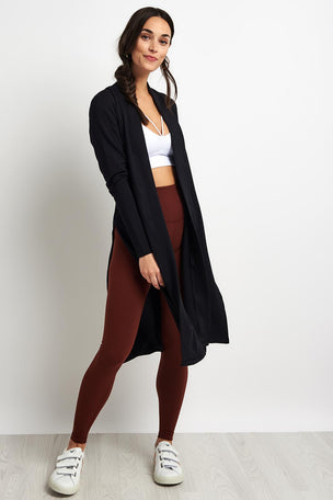 Beyond Yoga High Slits Long Duster -Black image 4 - The Sports Edit