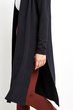 Beyond Yoga High Slits Long Duster -Black image 3 - The Sports Edit