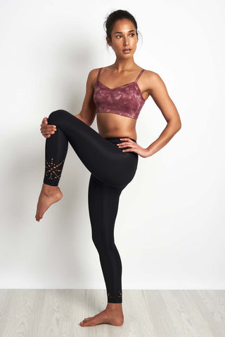 Beyond Yoga Knit Down Midi High Waisted Legging Black image 1