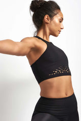 Beyond Yoga Knit down Studio Bralet Black image 3 - The Sports Edit