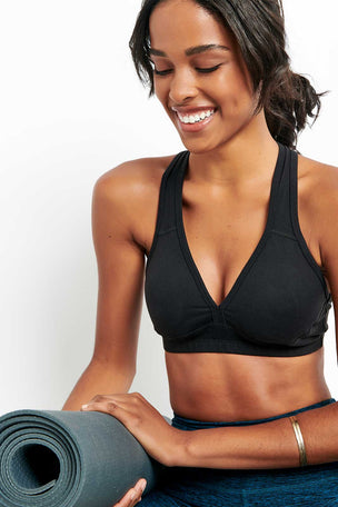 Beyond Yoga Lift Your Spirits Bra | Black image 3 - The Sports Edit