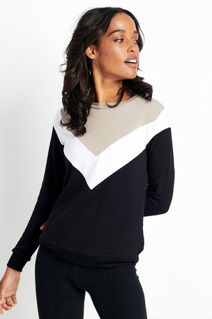Beyond Yoga Living Easy Chevron Sweatshirt image 1 - The Sports Edit