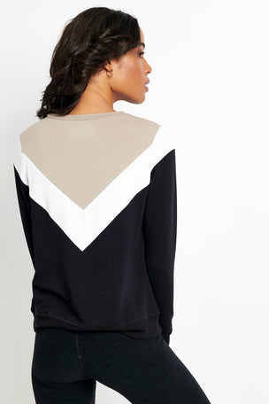 Beyond Yoga Living Easy Chevron Sweatshirt image 2 - The Sports Edit
