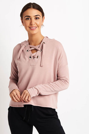 Beyond Yoga Over Tied Cropped Pullover - Brazen Blush image 5 - The Sports Edit