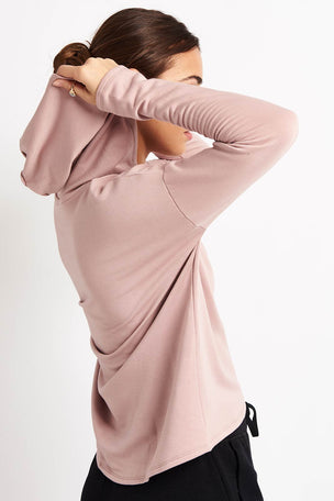 Beyond Yoga Over Tied Cropped Pullover - Brazen Blush image 2 - The Sports Edit