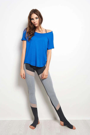 Beyond Yoga Out of Slink Cowl Dolman Top - Cobalt Blue image 4 - The Sports Edit