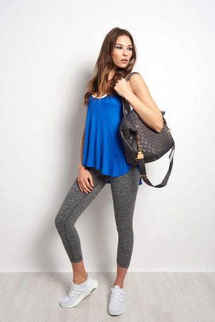 Beyond Yoga In Slink Overlapping Tank - Cobalt Blue image 4 - The Sports Edit