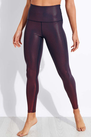Beyond Yoga Spot On High Waisted Midi Legging - Nocturnal Navy/Team Burgundy image 1 - The Sports Edit