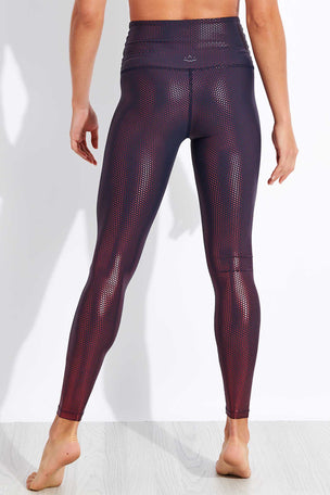 Beyond Yoga Spot On High Waisted Midi Legging - Nocturnal Navy/Team Burgundy image 3 - The Sports Edit