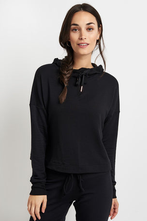 Beyond Yoga Sedona Cropped Hoodie - Black image 5 - The Sports Edit