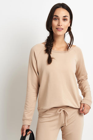 Beyond Yoga Sedona Cutout Pullover - Texas Taupe image 1 - The Sports Edit