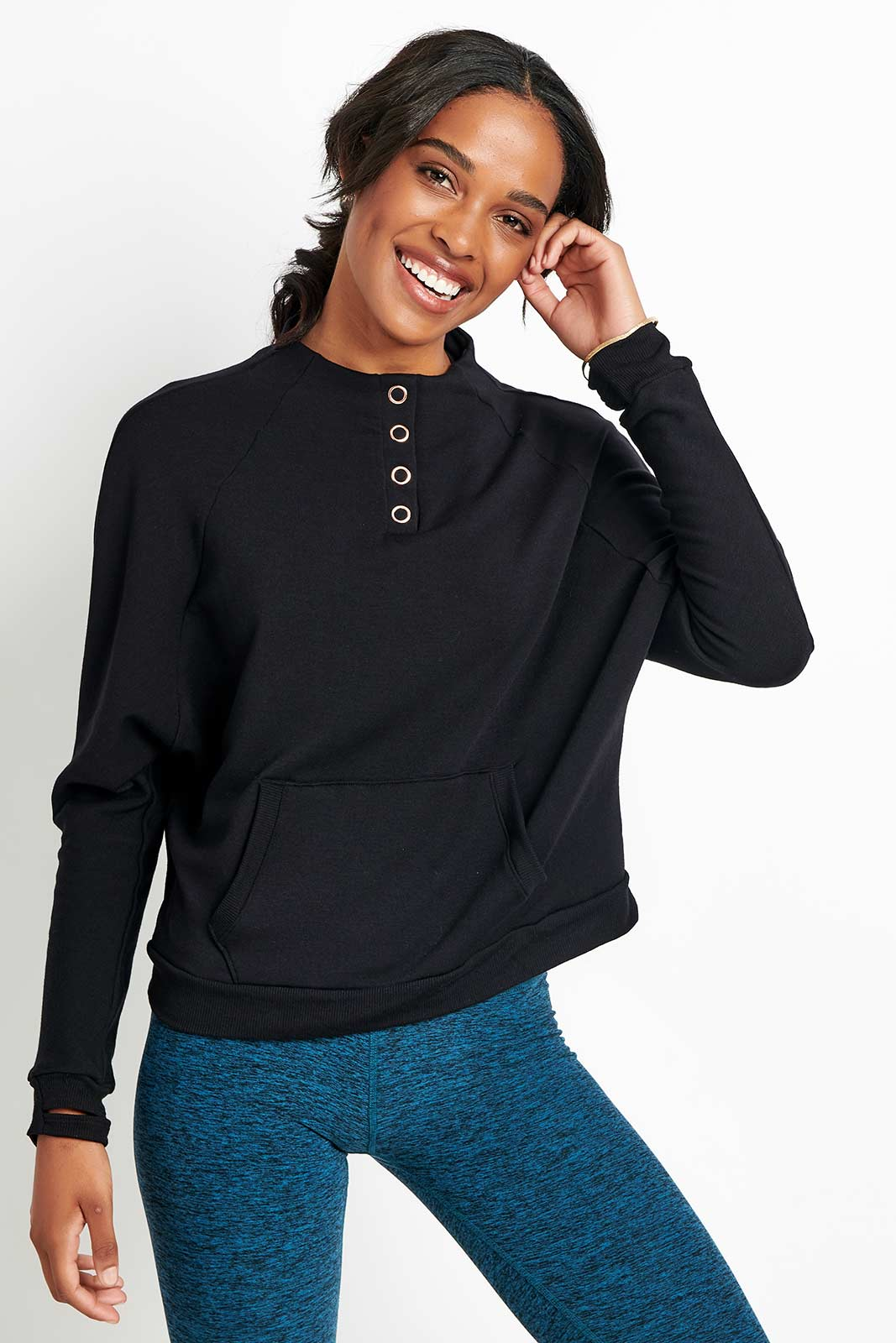 Beyond Yoga Snap It Down Raglan Pullover image 5 - The Sports Edit
