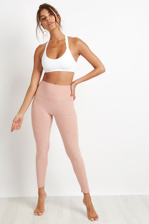 Beyond Yoga Caught In The Midi High Waist Legging - Pink image 4 - The Sports Edit