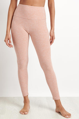 Beyond Yoga Caught In The Midi High Waist Legging - Pink image 1 - The Sports Edit