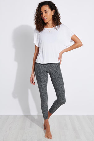 Beyond Yoga Spacedye Out Of Pocket High Waisted Midi Legging - Black/White image 2 - The Sports Edit
