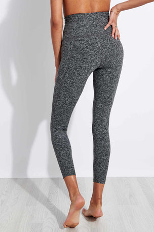 Beyond Yoga Spacedye Out Of Pocket High Waisted Midi Legging - Black/White image 3 - The Sports Edit