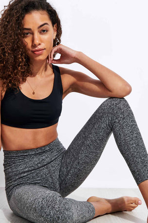 Beyond Yoga Spacedye Out Of Pocket High Waisted Midi Legging - Black/White image 4 - The Sports Edit