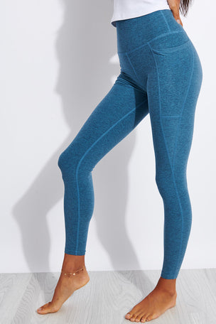 Beyond Yoga Spacedye Out Of Pocket High Waisted Midi Legging - Stormy Blue/Blue Cloud image 1 - The Sports Edit