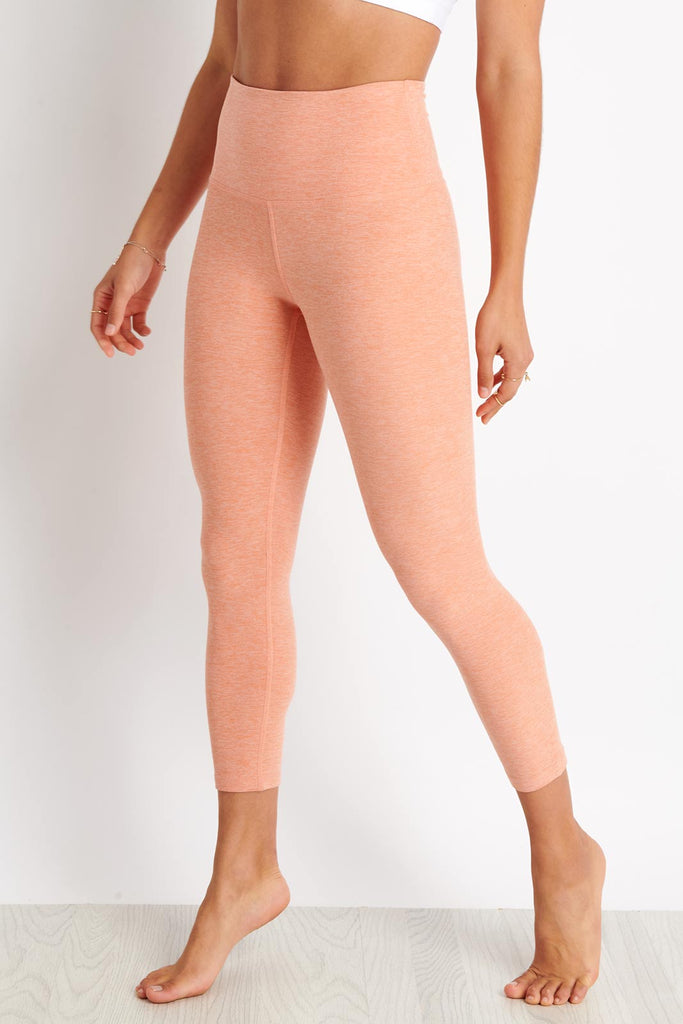 85d0bdb55a72d Beyond Yoga Spacedye Walk and Talk High Waisted Capri Leggings - Coral  Dust-Melon image
