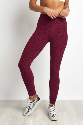 Beyond Yoga Spacedye High Waisted Legging Plumberry/Black image 1 - The Sports Edit