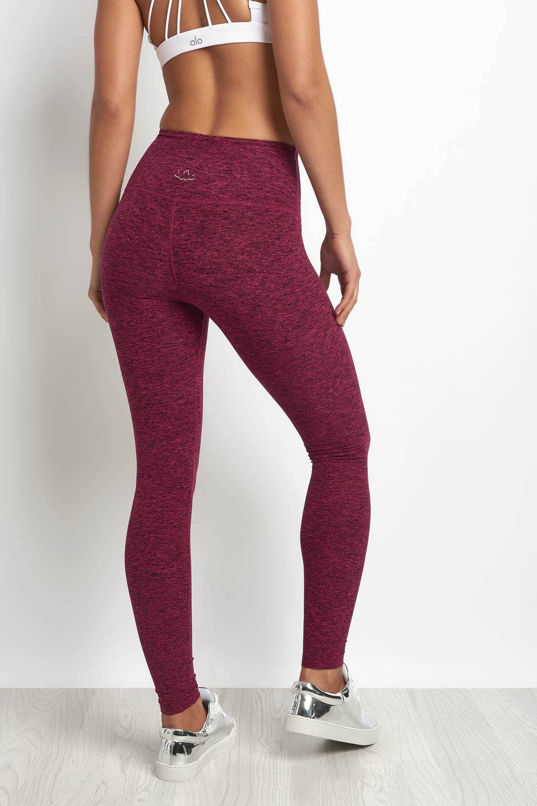 Beyond Yoga Spacedye High Waisted Legging Plumberry/Black image 2 - The Sports Edit