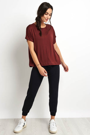 Beyond Yoga Split Keyhole Back Tee - Red Rock image 4 - The Sports Edit