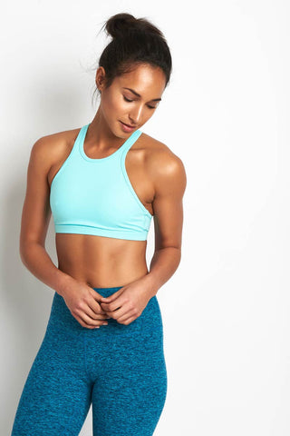 Beyond Yoga Studio Bra Tahiti Teal image 1 - The Sports Edit