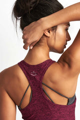 Beyond Yoga Travel Lightweight Racer Tank Plumberry image 3 - The Sports Edit