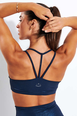 Beyond Yoga Twinkle Bra - Nocturnal Navy-Shiny Navy Twinkle image 3 - The Sports Edit