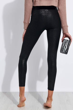 Beyond Yoga Twinkle High Waisted Midi Legging - Black/Silver Twinkle image 3 - The Sports Edit