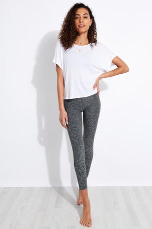 Beyond Yoga Twist Goodbye Cropped Tee - White image 3 - The Sports Edit